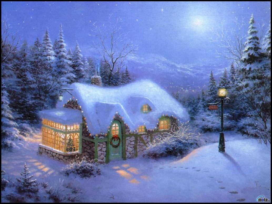 En güzel kış manzarası resimler