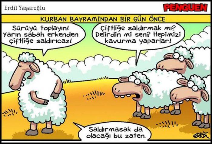Karikatür bayram mesajları