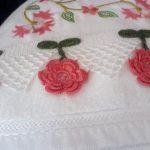 Tığ işi havlu kenarı modelleri   14