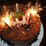 Çikolatalı doğum günü pastası