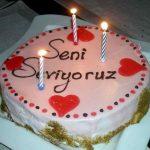 Kremalı doğum günü pastası