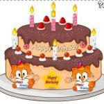 Şirin doğum günü pastası