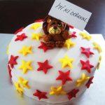 Yuvarlak doğum günü pastası
