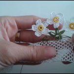 Tığ işi çiçek motifi