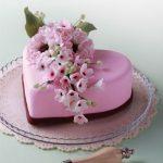 Doğum günü pastası kalpli