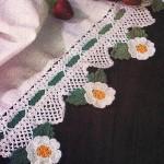 Çiçekli havlu kenarı örnekleri