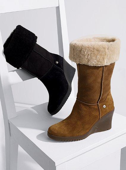 Kışlık Kürklü Bayan Ayakkabı Modelleri